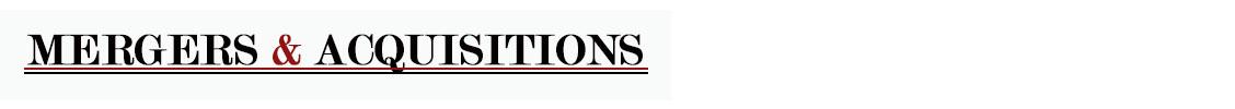 Fusionen und Übernahmen